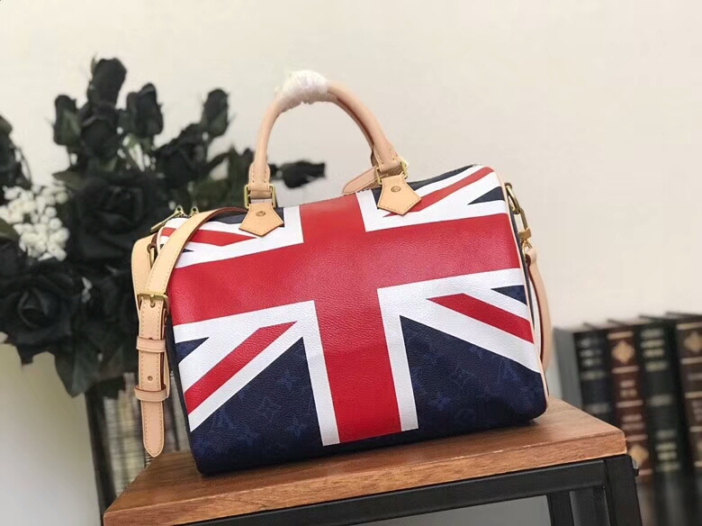 LV Speedy 30 Bandouliere Union Jack Bag UK National flag M41386UK