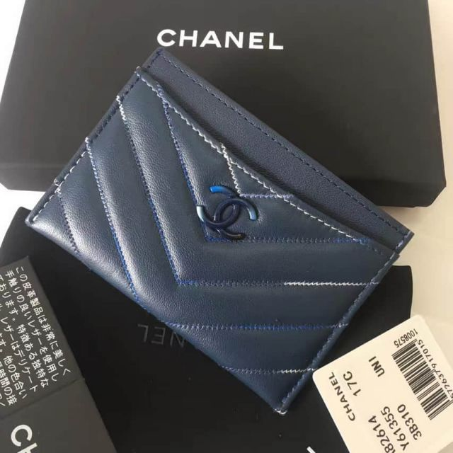 CC Soft Leather A82616 Blue Card Holders Women Bags