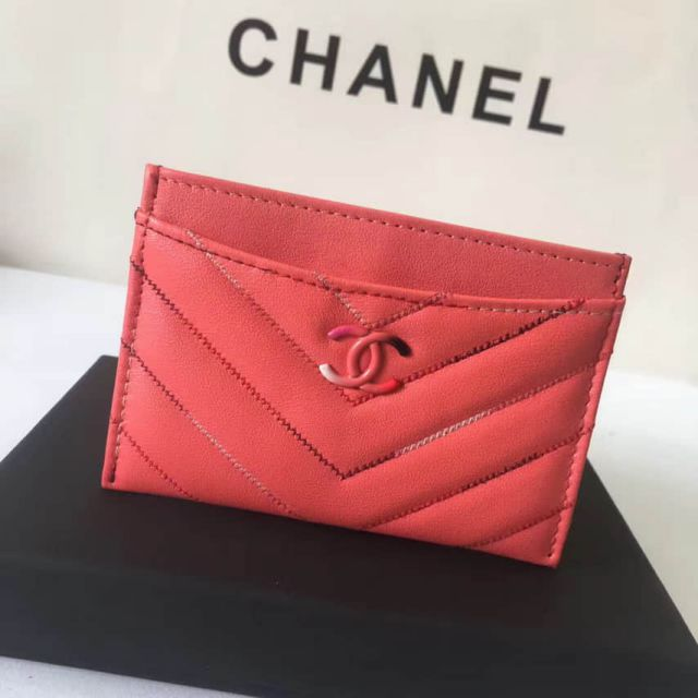 CC Soft Leather A82616 Red Card Holders Women Bags