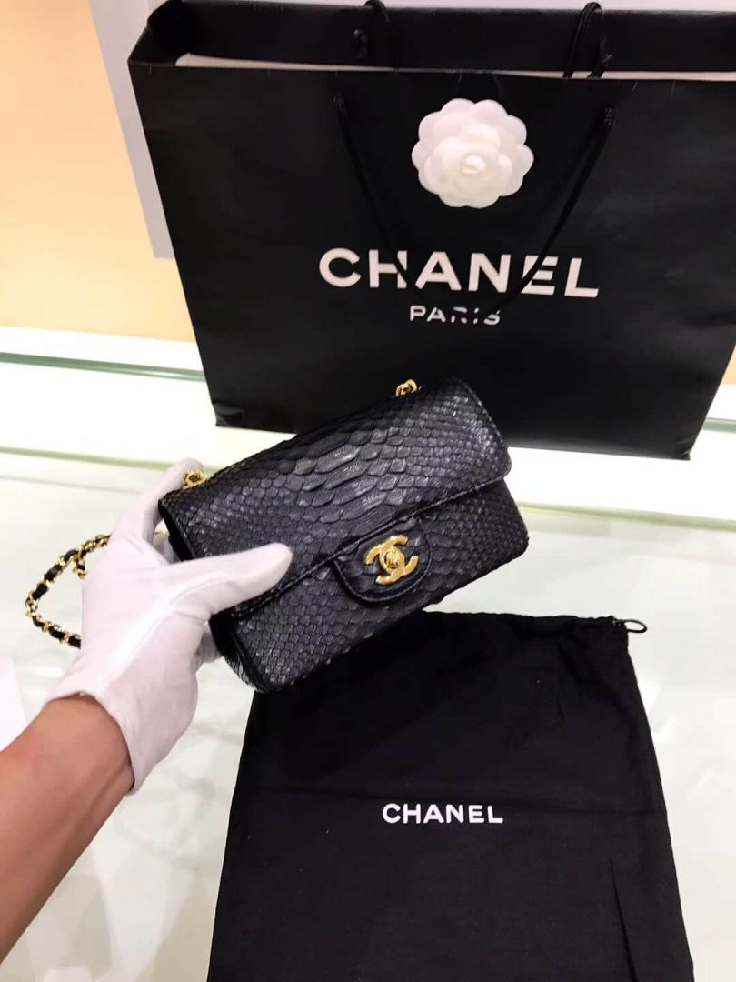 CC cf mini 20 Python Black Shoulder Bags Women Bags