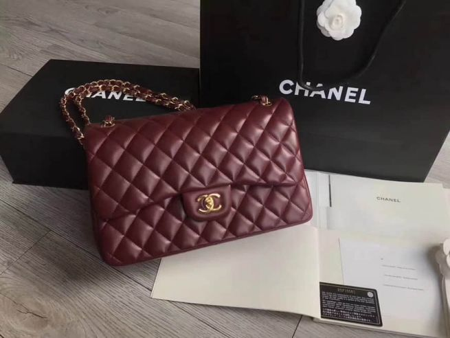 CC Classic CF JUMBO Chain Wine Red Gold Buckle Shoulder Bags Women Bags
