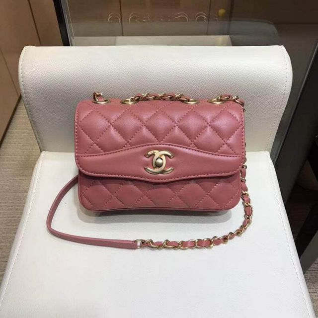 2018ss CC Soft Leather Crossbody A57027 Pink Shoulder Bags Women Bags