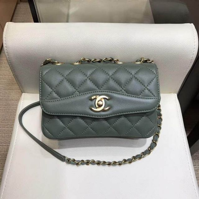 2018ss CC Soft Leather Crossbody A57027 Green Shoulder Bags Women Bags