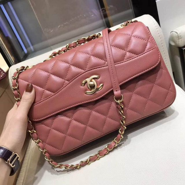 2018ss CC Soft Leather A57028 Pink Shoulder Bags Women Bags
