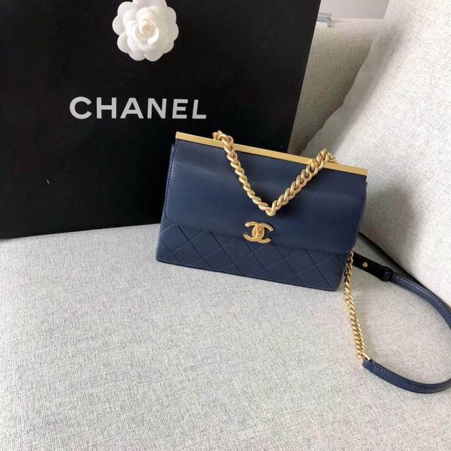 2018ss CC Soft Leather Small A57086 Blue Shoulder Bags Women Bags
