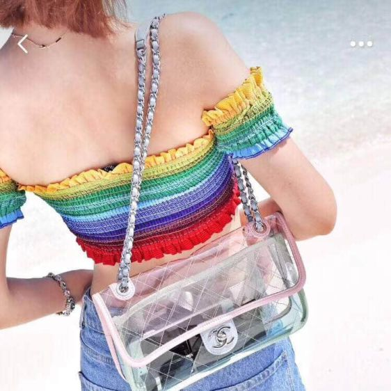 CC 2018 CF Clear Chain Shoulder Bags Women Bags