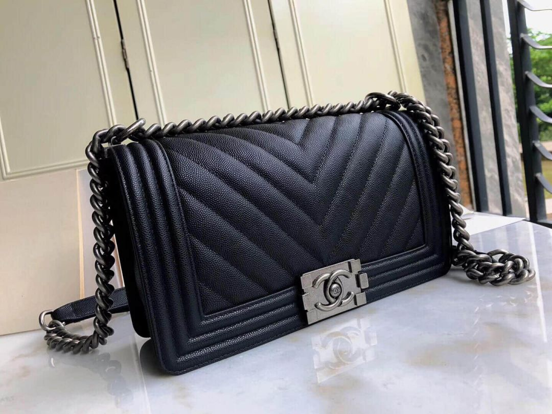 2018ss CC Leboy25 Black V Silver Buckle 67086 Shoulder Bags Women Bags