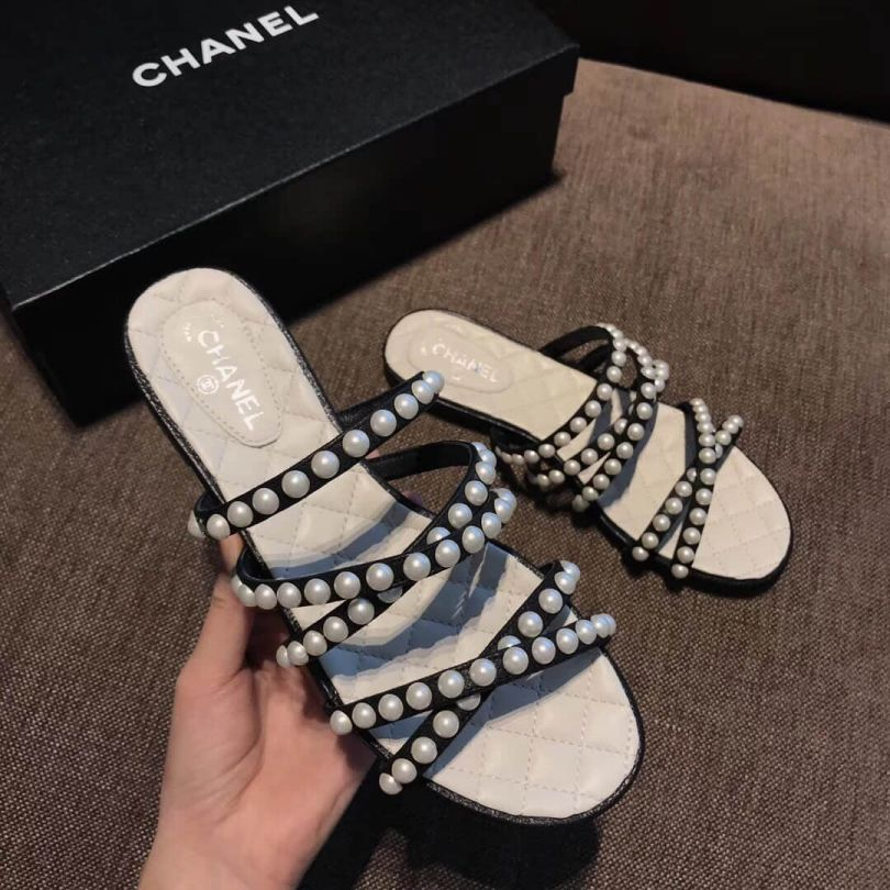 CC 2018ss Flat Slippers Women Shoes