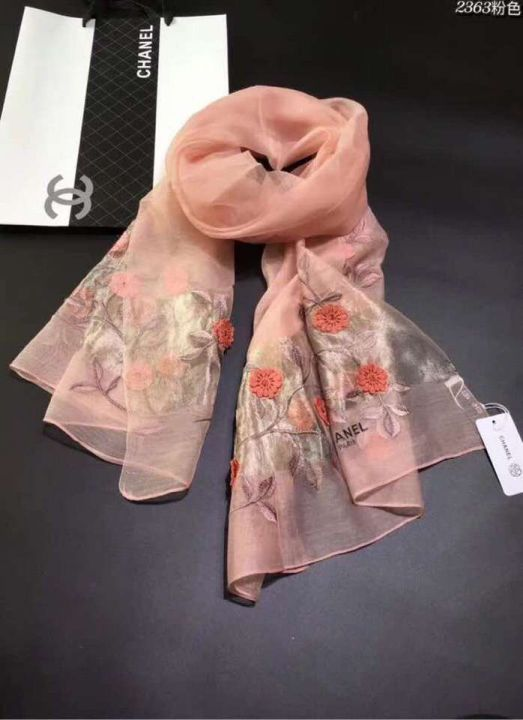 CC 2018 LOGO Embroidery Silk 2363 Women Scarves