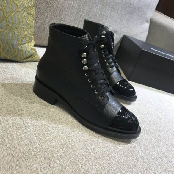 CC 2018 Leather Ankle Boots Women Shoes