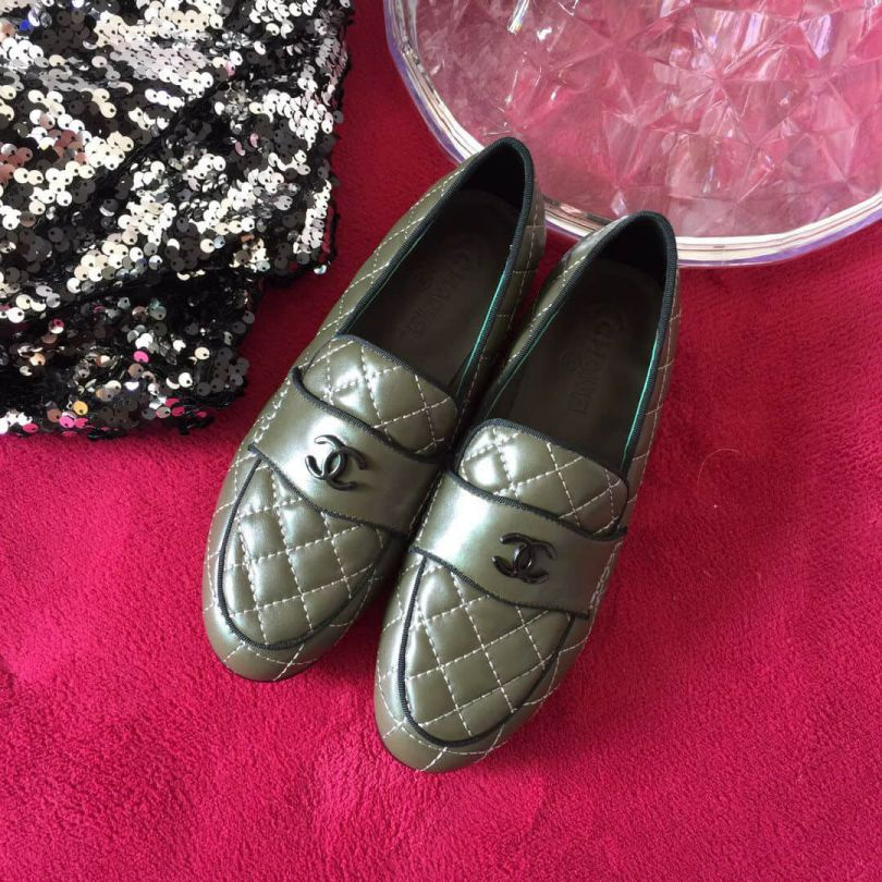 CC 18FW Loafers Women Shoes