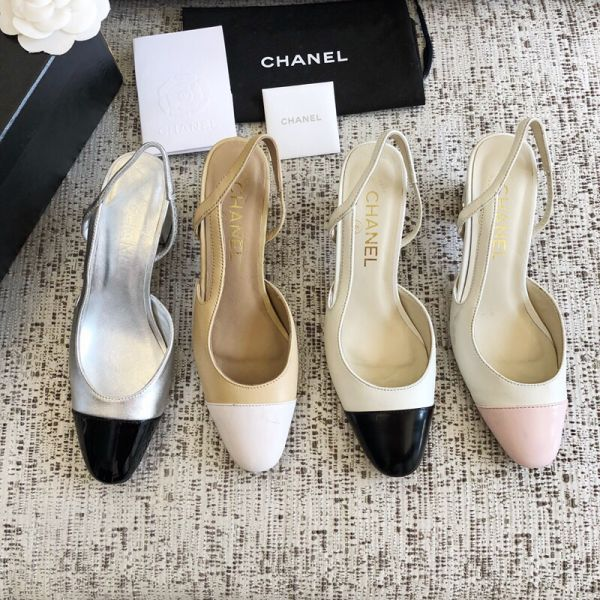 CC 2019 Patent Heel Women Shoes
