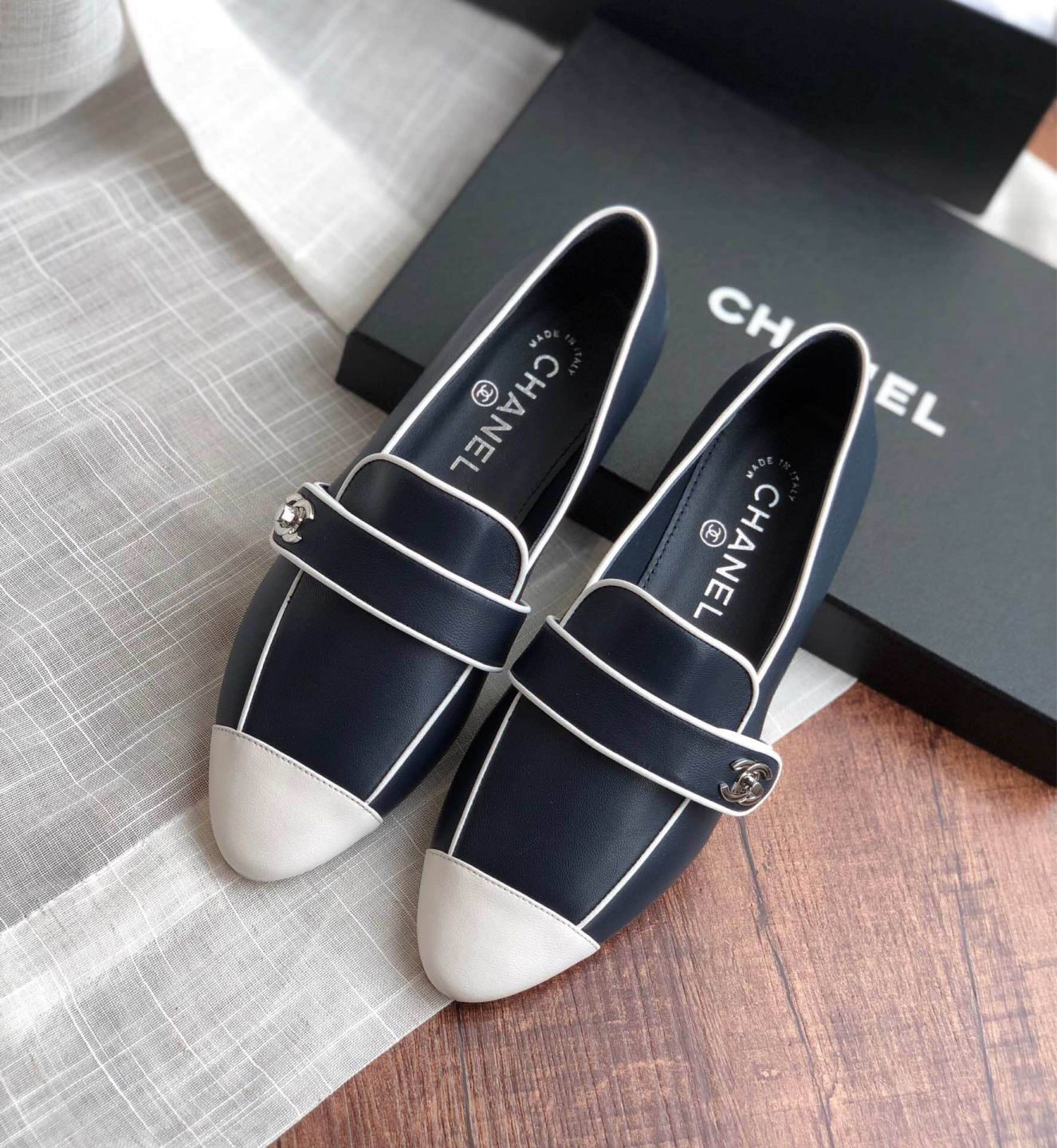 CC 2019Z Soft Leather Soft Leather Loafers Women Shoes