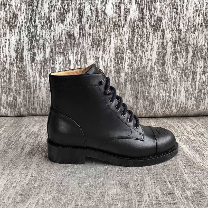 CC 2019FW Leather Boots Women Shoes