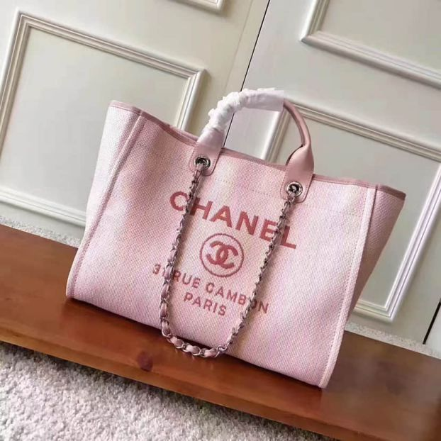 2017 CC Canvaslogo Pink Shopping Bags Women Bags