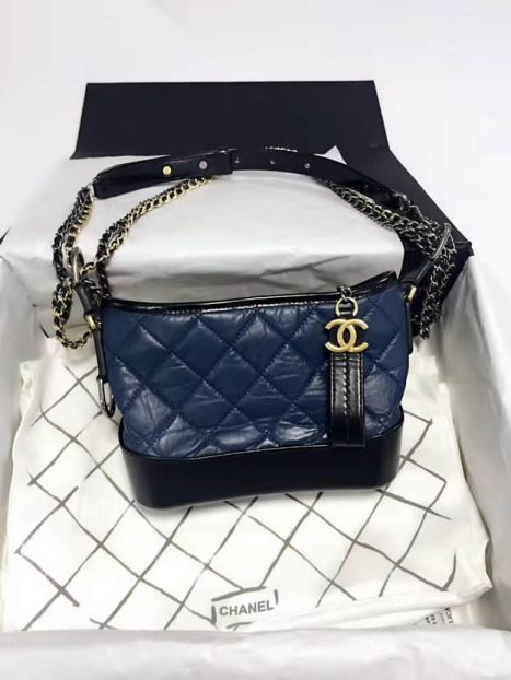 CC GABRIELLE Small A91810 Blue Black Shoulder Bags Women Bags