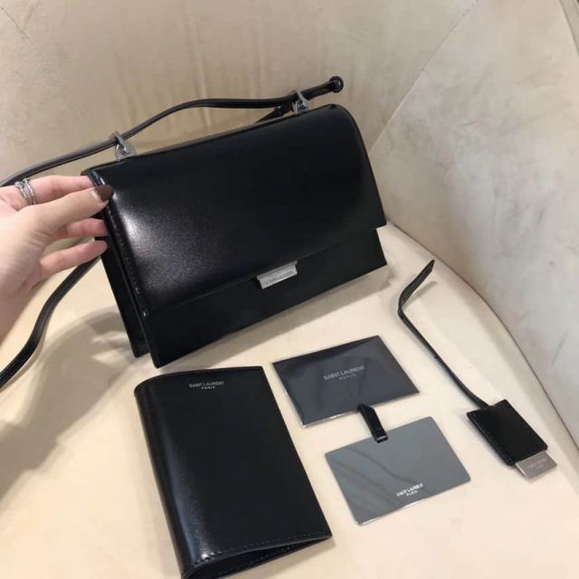 YSL Small BABYLONE Black Suede Crossbody 484509 Shoulder Bags