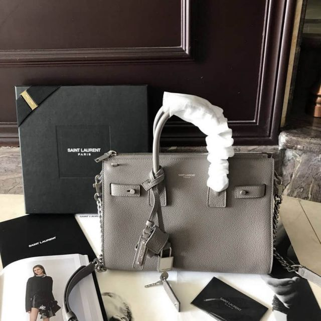 YSL BABY SAC DE JOUR SOUPLE DUFFLE BAG 491715sy Grey Tote Bags