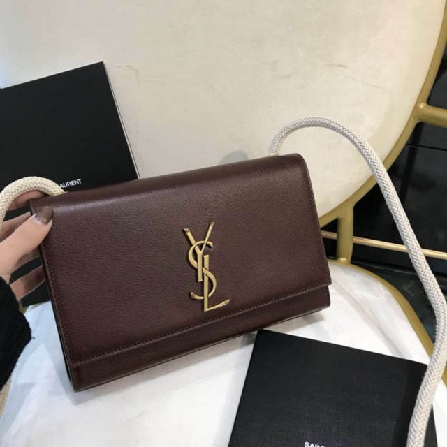 YSL KATE 527412 Brown Shoulder Bags