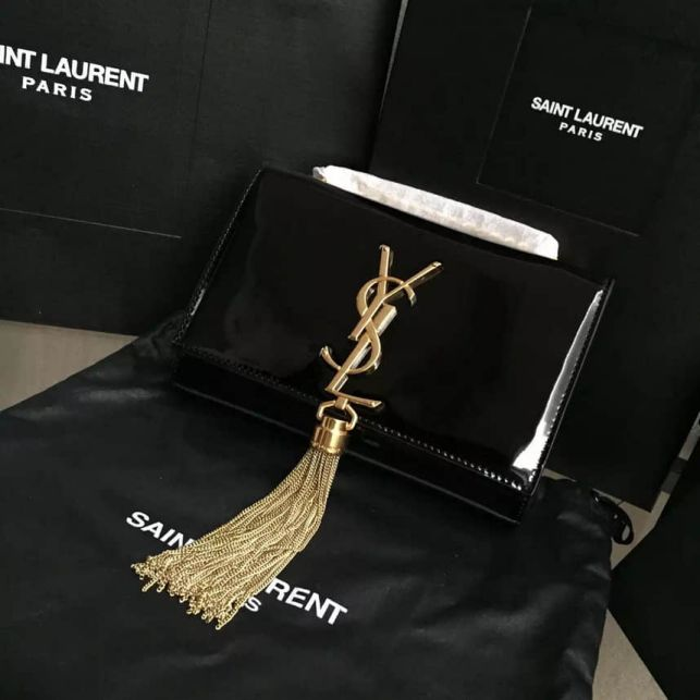 YSL 354120 Women Patent Chain Crossbody Shoulder Bags