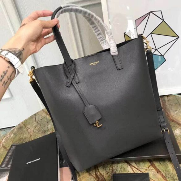 YSL 2018 SHOPPING Leather 498612 Tote Bags