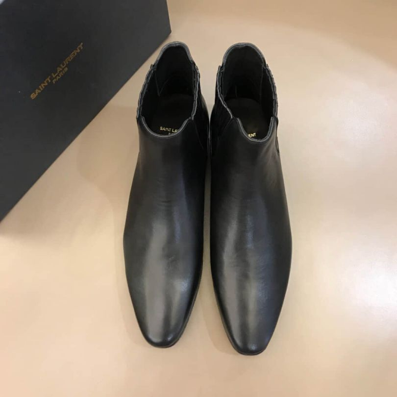 YSL Leather Shoes Men Shoes