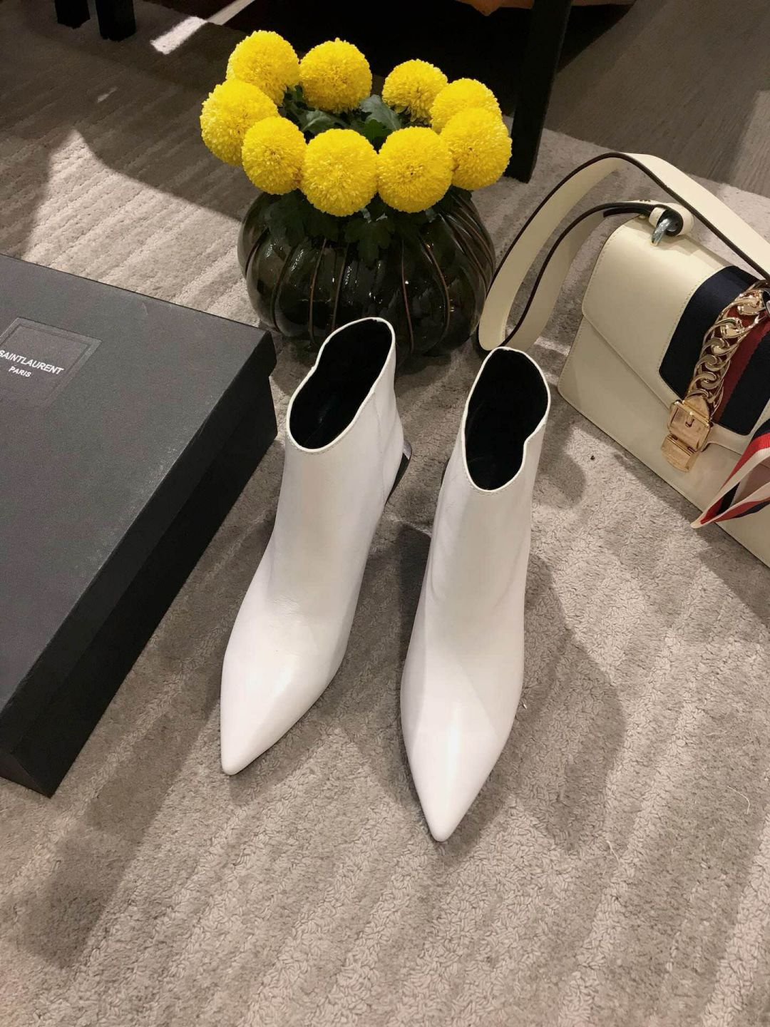 2018 YSL Ankle Boots Women Shoes