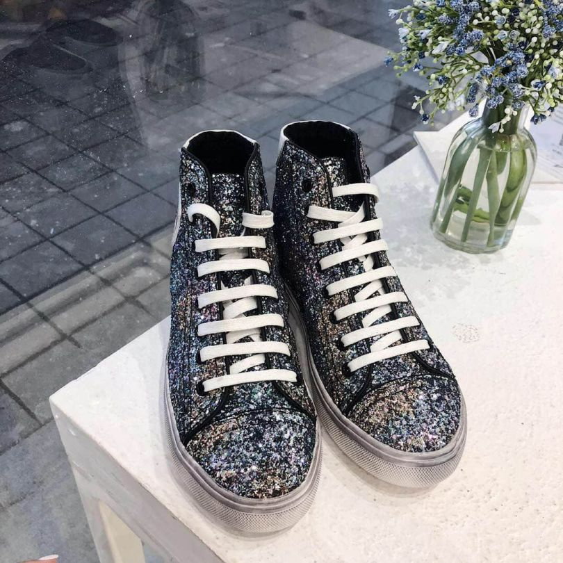 YSL Leather High Top Casual Shoes Women Shoes