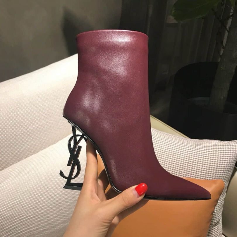 YSL/SLP 2018 Ankle Boots LOGO Ankle Boots Women Shoes