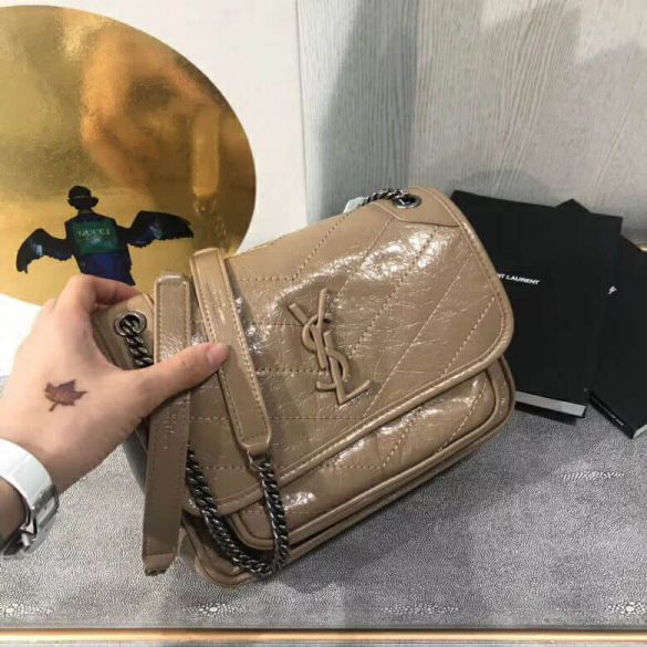 YSL Baby Niki Leather Bag on Chain 533037 Shoulder Bags
