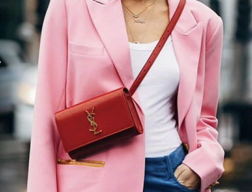 YSL KATE Red Leather 534395 Waist Bags