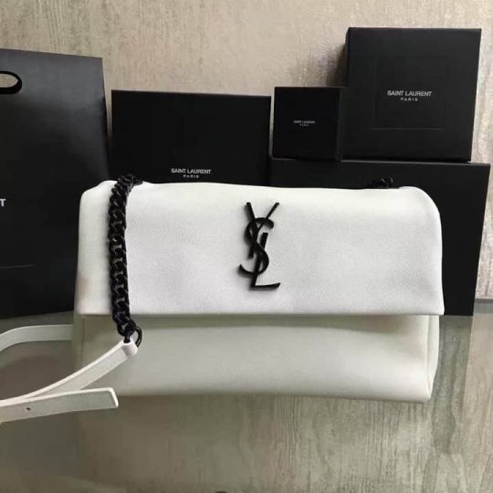 YSL Caviar Crossbody 438176 White Shoulder Bags