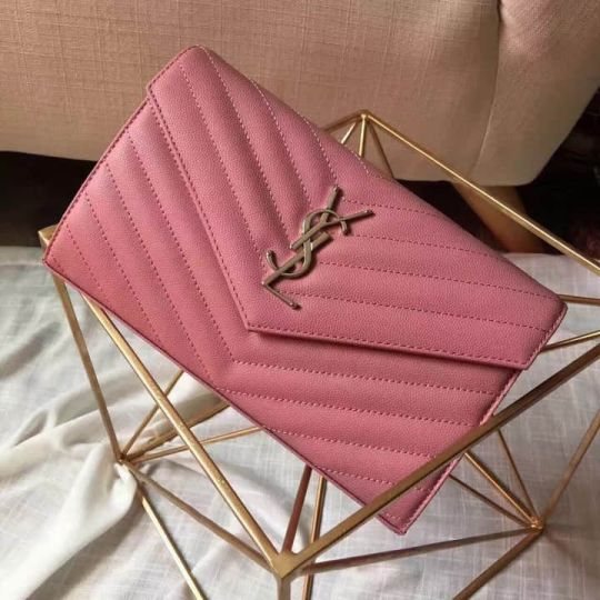 YSL Chain 20# 22CM 360452 Pink Shoulder Bags