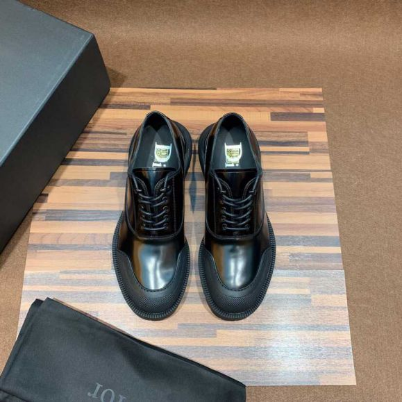 CD BLACK SHOES BLACK LEATHER LEATHER SHOES