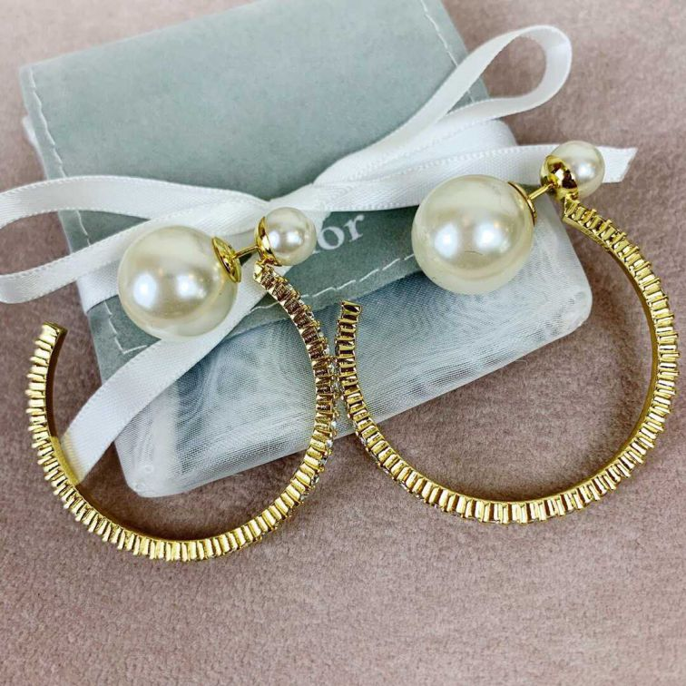 19 CD PEARL DIAMOND EARRINGS