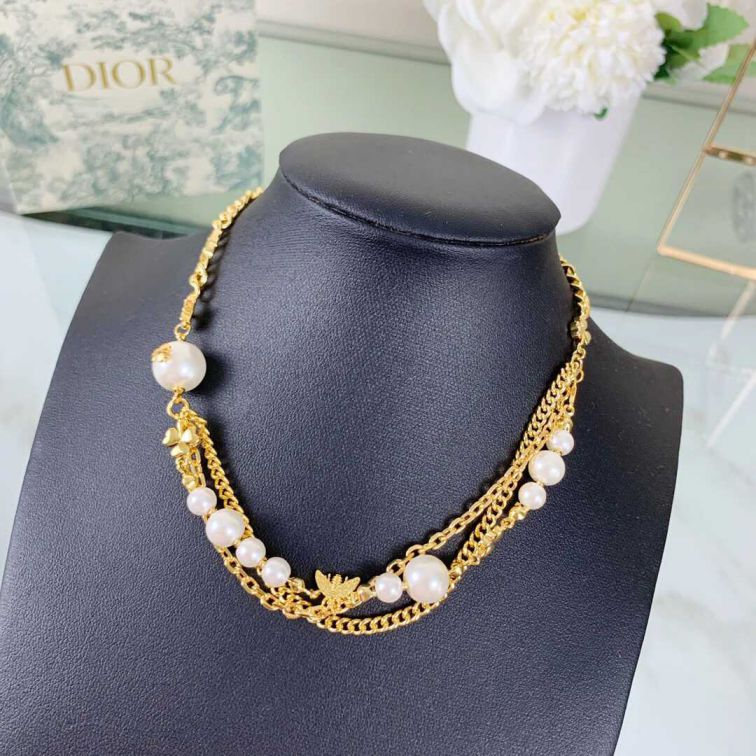 16 CD GOLD PEARL CHAIN NECKLACE