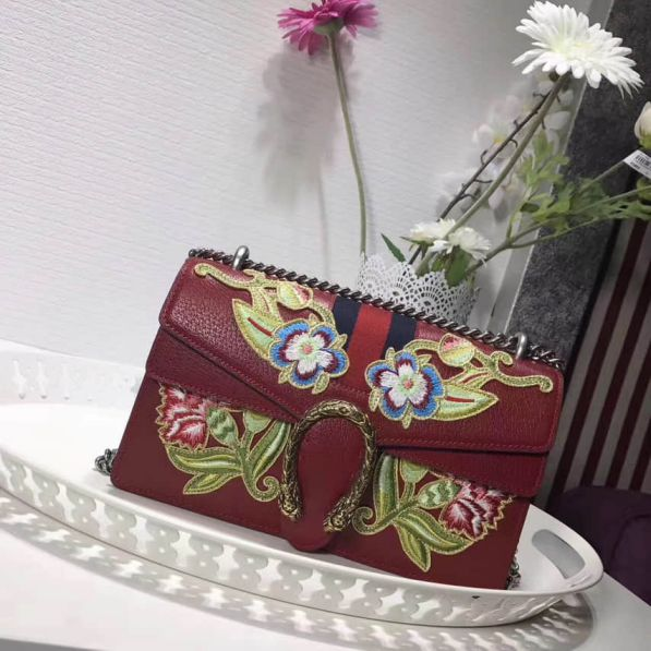 GG Dionysus Embroidery 400249 Women Shoulder Bags