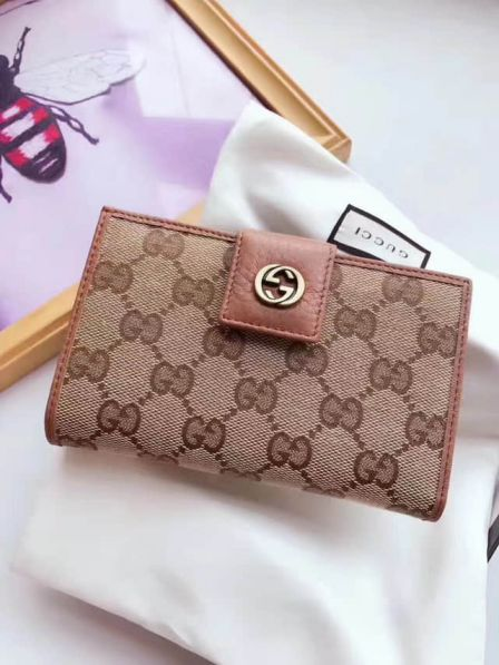 GG Marmont Canvas G 337023 Apricot Women Wallets