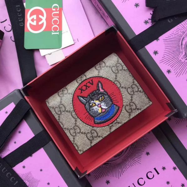 GG Cat Head 499380 Women Card Holder
