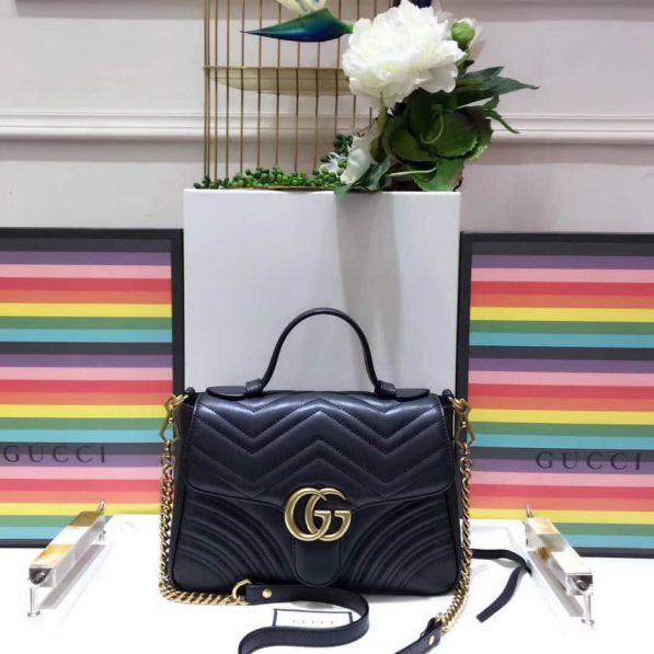 GG Marmont Small Tote 498110 DTDIT 1000 Women Clutch Bags