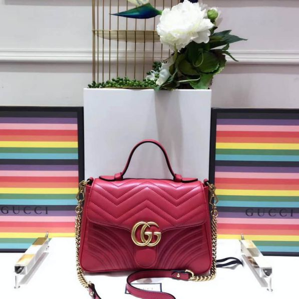 GG Marmont Small Tote 498110 DTDIT 6433 Women Clutch Bags