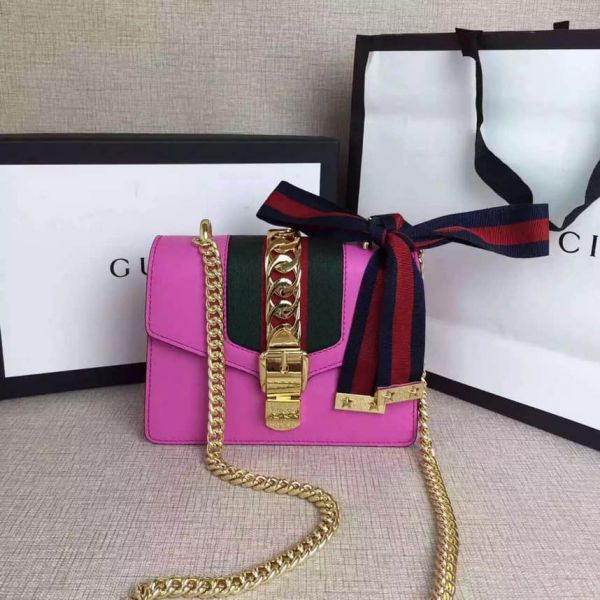 GG Sylvie mini Chain :431666 Women Shoulder Bags