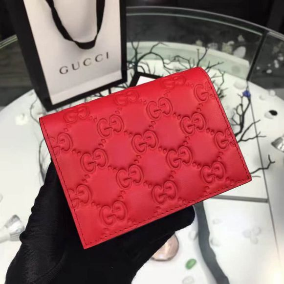 GG Epi Leather Short 410120 Red Women Wallets