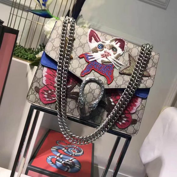 GG Limited Edition Butterfly Dionysus Embroidery 400235 Women Shoulder Bags