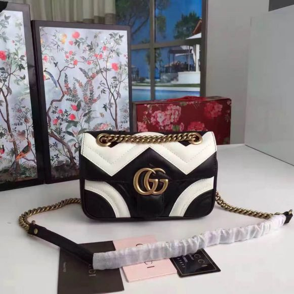 GG 446744 GG Marmont Match mini Chain Women Shoulder Bags