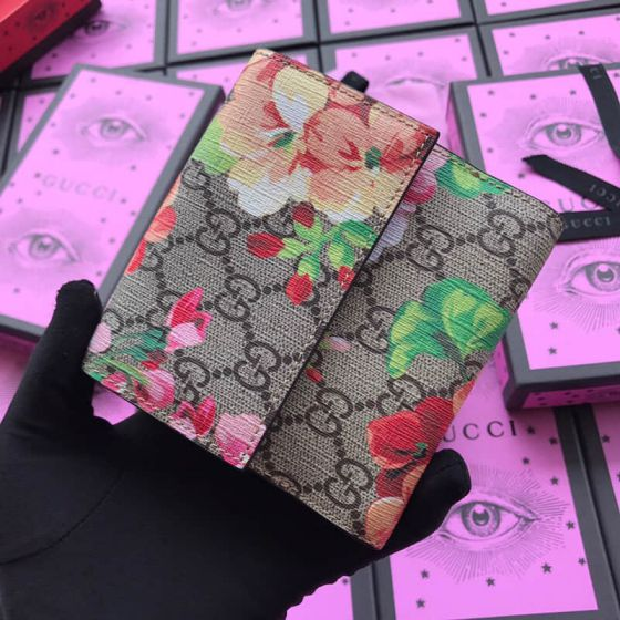 GG 410071 Red Pink Women Wallets