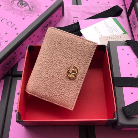 GG 456126 Pink Leather Women Card Holder