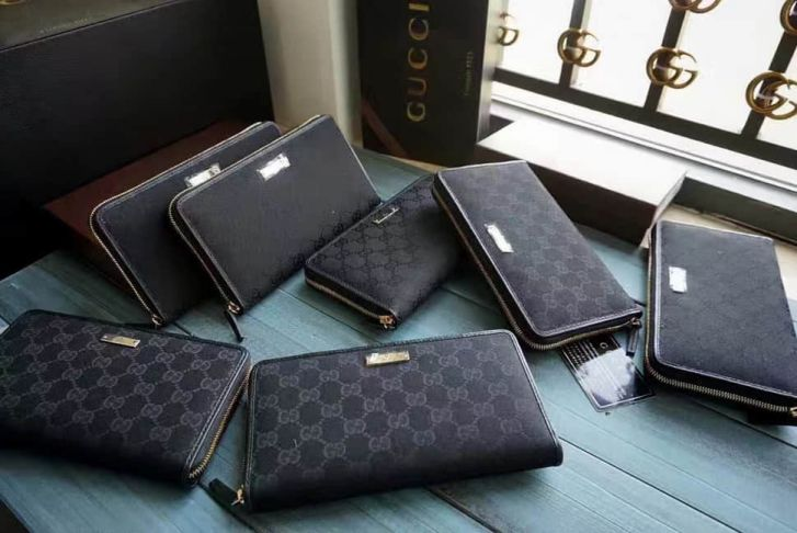 GG 2017 NEW 233193 GG Canvas Long zip Men Wallets