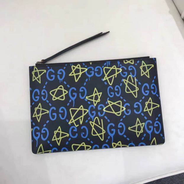 GG 2016FW Ghost 445597 Men Clutch Bags