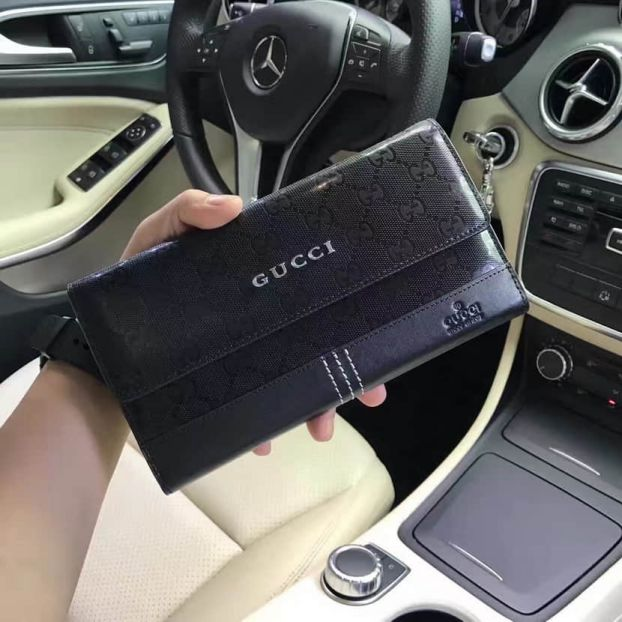 GG 2016 NEW Leather 98017 Men Wallets
